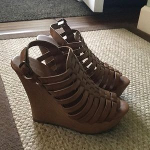 Mossimo strappy wedge sandals
